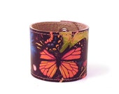 Leather Cuff - Butterflies.