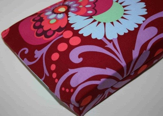 Cosmetic Bag - Amy Butler, Love - Paradise Garden in Wine