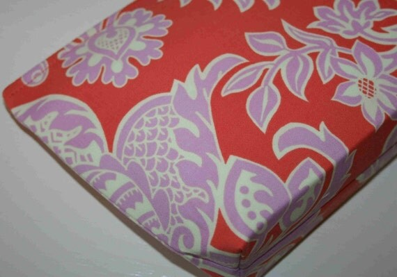 Only 1 Left - Cosmetic Bag - Amy Butler, Love - Sandlewood in Tangerine