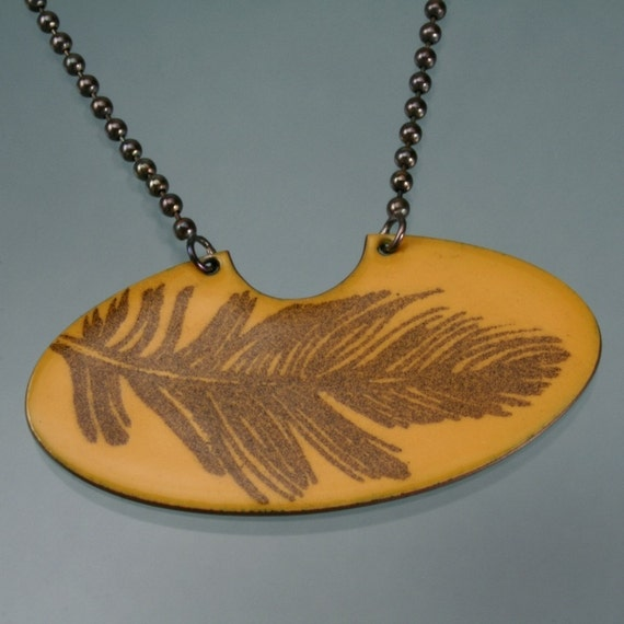 floating feather necklace