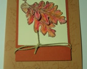 Thanksgiving Card Blessings Fall Leaves