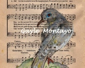 MORNING DOVE   RESERVED Special order  Art print Soft And Tenderly Song Hymn 8 x 10  Free Shipping