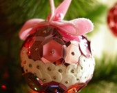 Kitschy Sequin Ornament