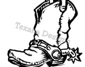 Boot (small) cling mounted rubber stamp