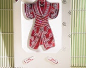 Red Kimono Greeting Card