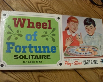 1966 Wheel of Fortune Solitaire, ed u cards Play Alone Card Game