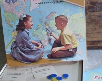 1962 Happy Landing Geography Game