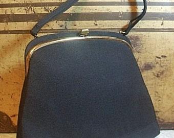 Black Morris Moskowitz 1950s Handbag