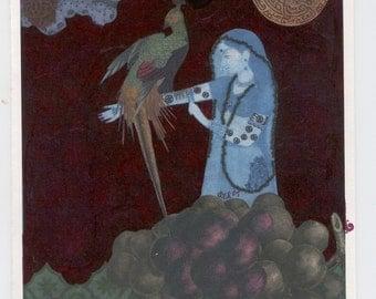 Nine of Pentacles, from Tarot, individual greeting card