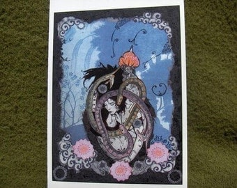 The Lovers, (from Tarot), individual greeting card