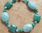 Russian and Brazilian Amazonite Bracelet with Magnetic Clasp