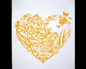 original screenprinted HEART art print