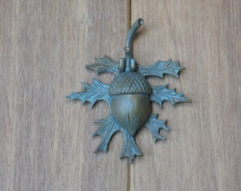 Verdigris Oak  Leaf and Acorn Doorbell