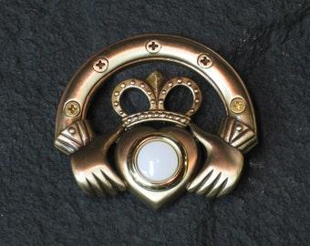 Handcrafted Bronze Irish Claddagh Doorbell