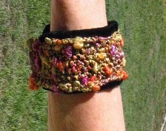 SALE  #Wristband #Bracelet #Fashion #Gold Multicolors #Metallic Specialty Yarn