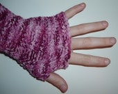 Speckled Plum Funky Arm Warmers