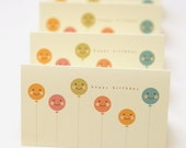 baloon mini birthday card- 5 cards