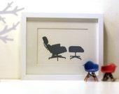 eames lounge chair - 5 x 7 print