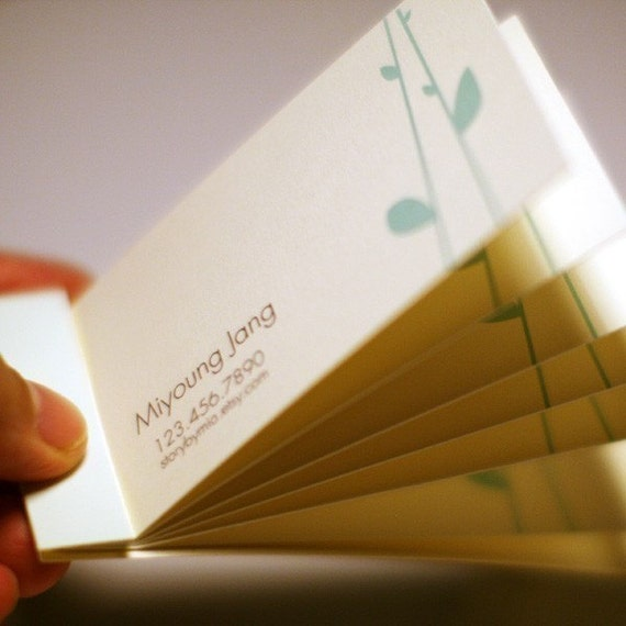 calling cards-matchbook style