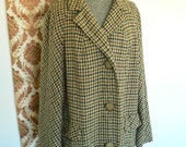 Lovely Vintage 50s Pure Wool Tweed Fabric Winter COATsz L-XL