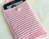 Kindle Cover, Pink, Ebook Case, eReader Sleeve, Crochet