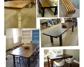 DEPOSIT 250.00 dollars for your custom made table