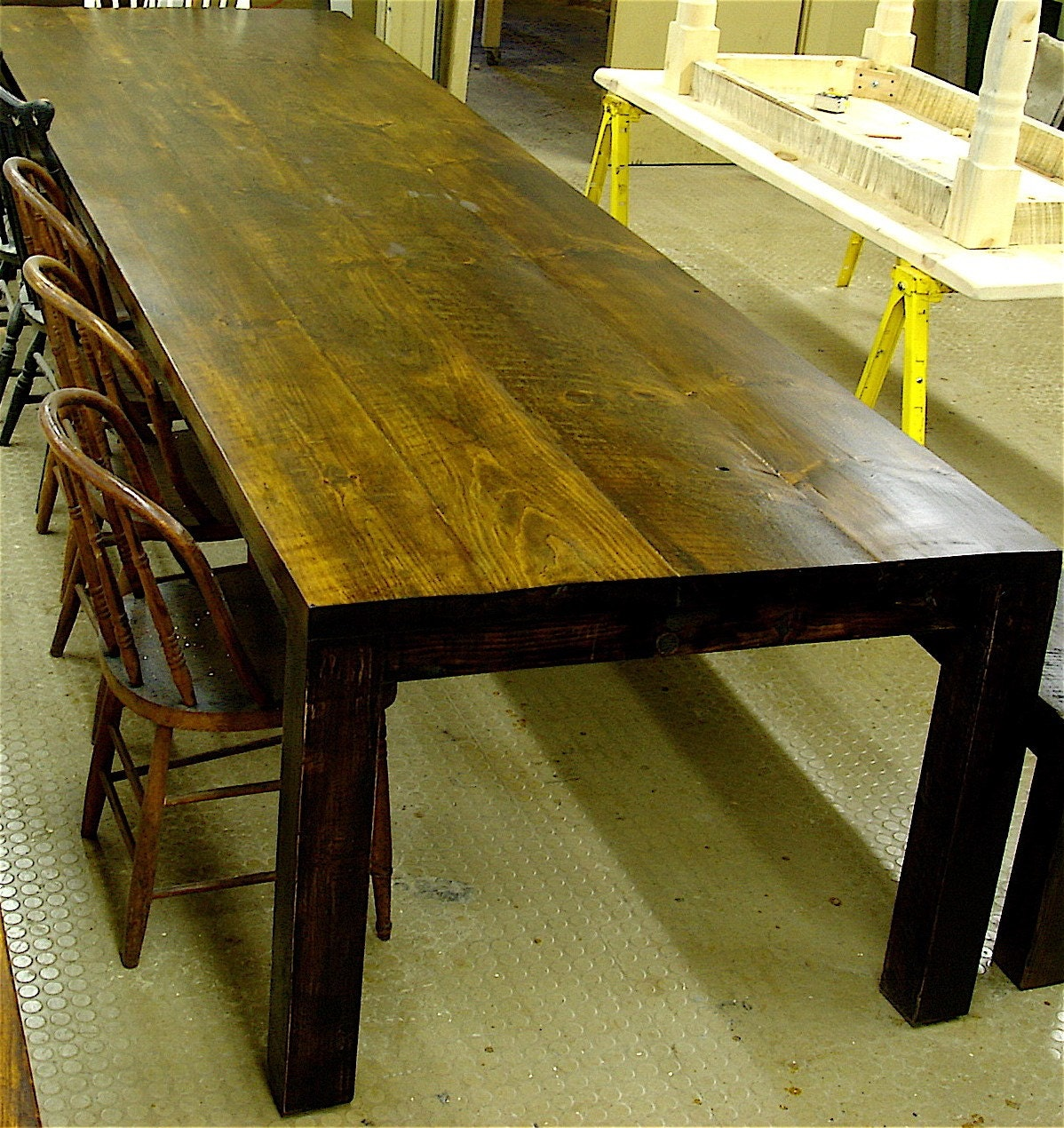 Farm table custom built modern style dining by for New style dining table