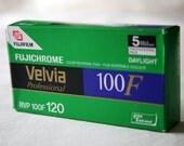 5 Rolls of Fujichrome Velvia 100F 120 Slide Film (Expired)