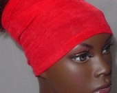 Natural Hair Accessories-Headband-Tube-Red