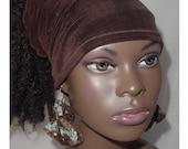 Hairband-Tube-Chocolate Brown-Natural Hair-Locs-Virtuous Creations