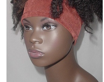 Natural Hair Accessories-Headband-Tube-Rust Brown