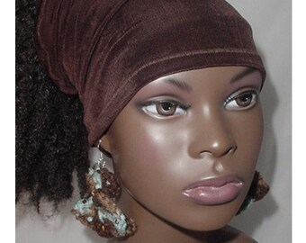 Hairband-Tube-Chocolate Brown-Natural Hair-Locs-Virtuous Creations