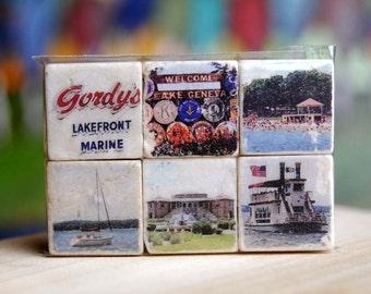 Lake Geneva - Wisconsin Magnet Collection - set of 6