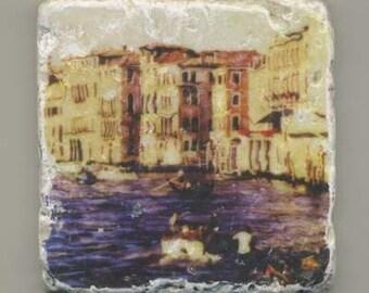 View from Rialto Bridge in Venice Italy-Original Coaster
