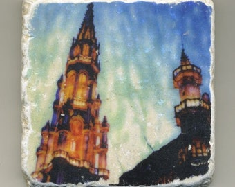 Grand Place - Brussels, Belgium - Original Coaster