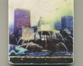 Buckingham Fountain Original Coaster