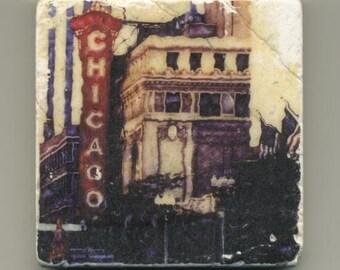 Chicago Theater Original Coaster