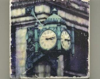 Marshall Fields Clock Original Coaster