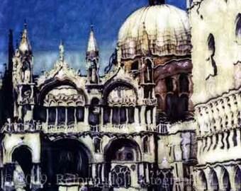 San Marco Square in Venice Italy Polaroid SX-70 Manipulation - 8x8 Fine Art Photograph