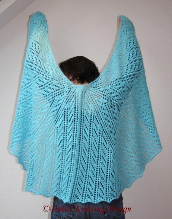 PDF knitting pattern lace semi circular scarf, wrap, shawl ...