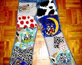 Funky Farm Patchwork Jeans - MOOving Decoupage Denim - Custom Hand-Embellished Cow Jeans for Girls/Boys - All Sizes Available