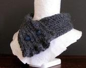 PDF Crochet Pattern - Black Forest Ruffle Scarflette