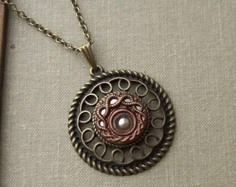 Venus, Antique Button Necklace