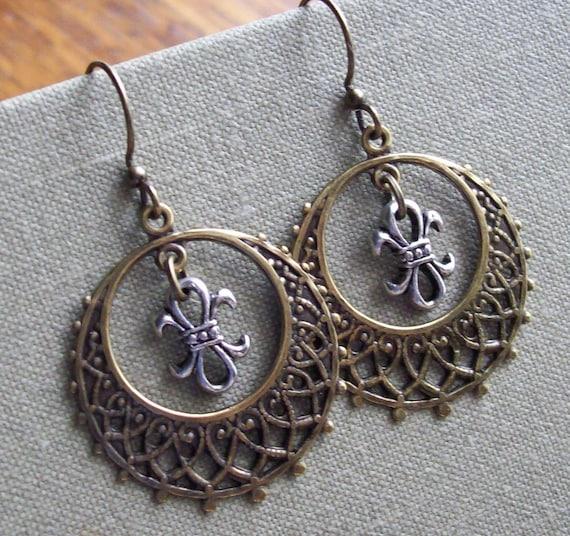 Fleur De Lis, Earrings
