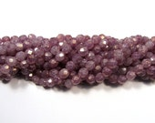 6mm Stone Pink Luster Czech Firepolish Beads (50)
