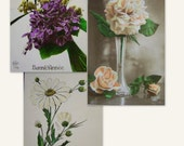 French vintage postcards (flower theme) - Happy new Year