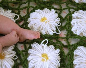 Flower Garden Baby Blanket - Crochet PDF