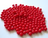 Vintage Red Plastic Beads