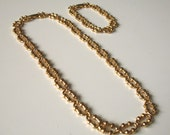 Vintage Avon Gold Necklace And Bracelet Set