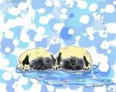 Puddle Pugs  by  Rhonda Harris